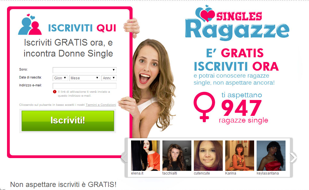Tante ragazze single in cerca d'Amore!