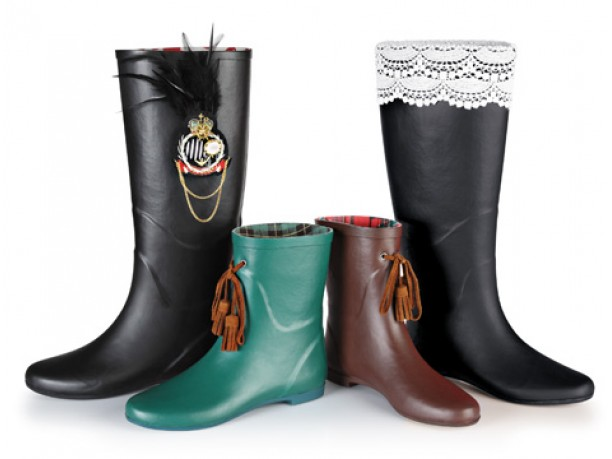 stivali in gomma da pioggia